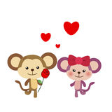 Illustration of a pair of monkey Royalty Free Stock Images