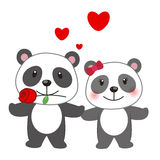 Illustration of a pair of panda Stock Images