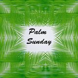 Illustration of elements of Palm Sunday Background. Illustration of Palm leaves with Palm Sunday text on the occasion of Christian moveable feast Palm Sunday Royalty Free Stock Images