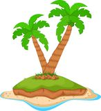 Palm tree on ocean. Illustration of Palm tree on ocean Royalty Free Stock Photography