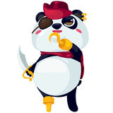 Illustration panda. On white background Royalty Free Stock Image