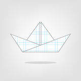 Illustration of a paper boat on the background. Paper boat on the background Stock Photography
