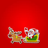 Paper cut of Santa drives his sleigh Royalty Free Stock Photography