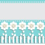 Illustration of paper flowers celebratory background for text placement. Beautiful illustration of paper flowers celebratory background for text placement Stock Photo