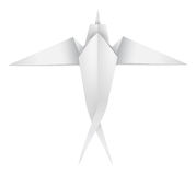Origami swallow Royalty Free Stock Images