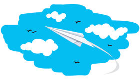 Illustration of a paper plane Stock Photos