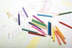 Illustration par l'enfant Image stock