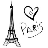 Illustration of Paris, the Eiffel Tower Stock Images