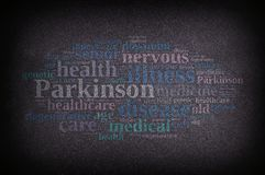 Illustration with Parkinson words. royalty free illustration