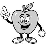 Illustration parlante d'Apple Image libre de droits