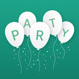 Illustration of party balloons. Stock Photography
