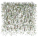 Illustration of party confetti Royalty Free Stock Image