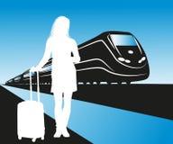 Illustration of passenger Stock Images