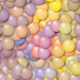 Illustration of pastel colored balls. Digital painting Royalty Free Stock Image