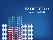 Illustration of Patriot Day background. Illustration of elements of Patriot Day background Stock Photography