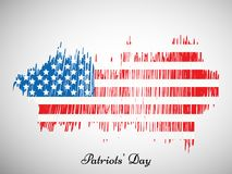 Illustration of Patriot Day background. Illustration of elements of Patriot Day background Royalty Free Stock Photos