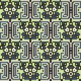 Illustration pattern background green gray. Illustration vector texture pattern seamless pixel art Vector Illustration