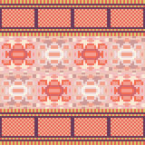 Illustration pattern background orange. Illustration vector texture pattern seamless pixel art Royalty Free Illustration