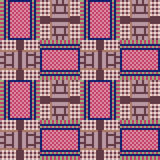 Illustration pattern background red. Illustration vector texture pattern seamless pixel art Stock Illustration