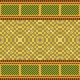 Illustration pattern background yellow gold. Illustration vector texture pattern seamless pixel art Vector Illustration