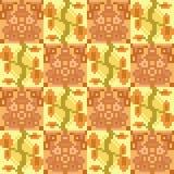 Illustration pattern background yellow orange. Illustration vector texture pattern seamless pixel art Stock Illustration