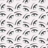Illustration of eyes pattern vector illustration