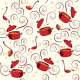 Illustration pattern with kitchen utensils. Royalty Free Stock Photography