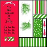Christmas Colors and Icons Royalty Free Stock Images