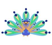Illustration of peacock Stock Photo
