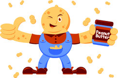 Illustration of peanut butter Royalty Free Stock Photos
