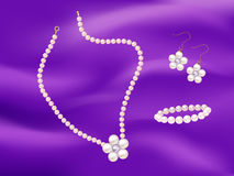 Illustration of pearl jewelry Stock Photography