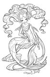 Illustration of pearl mermaid. Stock Photos