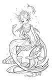 Illustration of pearl mermaid. Royalty Free Stock Photo