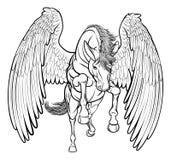 Rearing Pegasus Horse Stock Photography