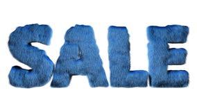 Illustration pelucheuse bleue des lettres 3d de fourrure de vente illustration libre de droits