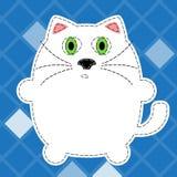 Illustration pelucheuse de chat Photo libre de droits