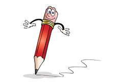 Illustration of a Pencil Stock Photos