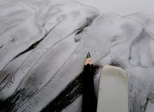 Illustration of pencil drawings. The beauty and simplicity of the art of pencil drawings stock photography