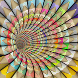 Illustration pencil tunnel in rainbow color Royalty Free Stock Photos