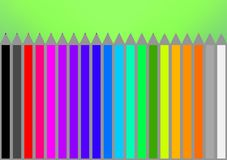 Pencils black, red, yellow, orange, white, gray, blue, green, pi. Illustration of pencils black, red, yellow, orange, white, gray, blue, green, pink, etc Stock Images