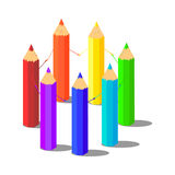 Illustration of pencils Stock Image