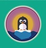 Illustration of Penguin on a ice floe Stock Photo