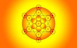 Illustration of a pentagram symbol Royalty Free Stock Image