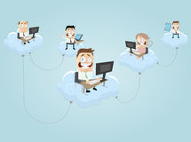 Illustration of cloud computing Stock Image