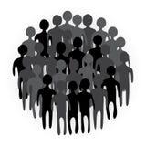Illustration of people crowd. Stock Photo