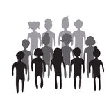 Illustration of people crowd. Stock Image