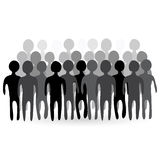 Illustration of people crowd. Royalty Free Stock Photography