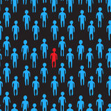 Illustration of people crowd. Seamless pattern. Royalty Free Stock Image