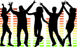 Illustration of people dancing Stock Photography