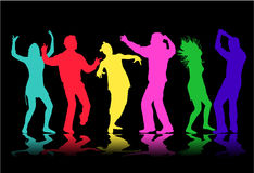Illustration of people dancing Royalty Free Stock Photo